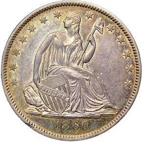 1860 O 50C MS obverse