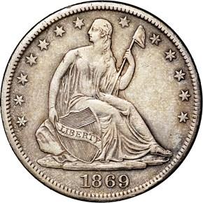1869 S 50C MS obverse