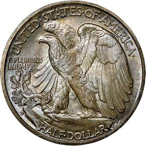 1937 D 50C MS reverse