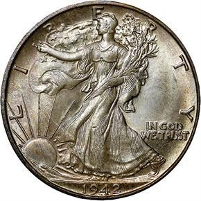 1942 D 50C MS obverse