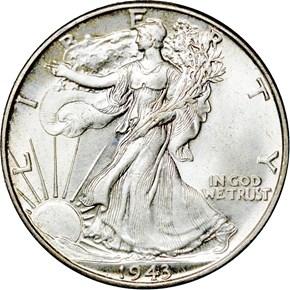 1943 50C MS obverse