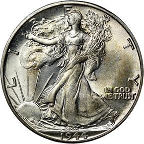 1944 D 50C MS obverse