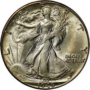 1946 D 50C MS obverse