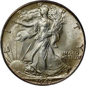 1947 50C MS obverse