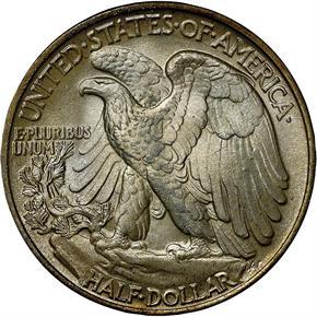 1947 50C MS reverse