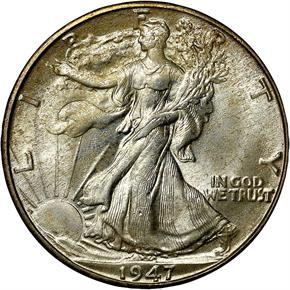 1947 D 50C MS obverse