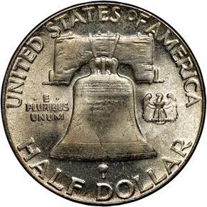 1951 50C MS reverse