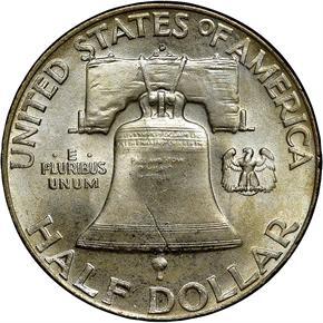 1951 D 50C MS reverse