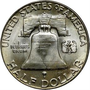 1952 D 50C MS reverse