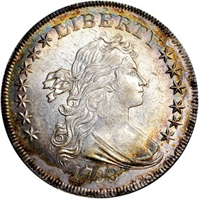 1798 SMALL EAGLE $1 MS obverse
