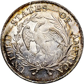 1798 SMALL EAGLE $1 MS reverse