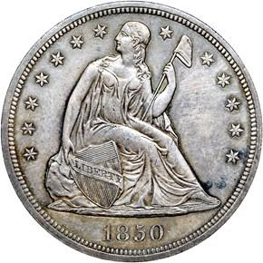 1850 $1 MS obverse