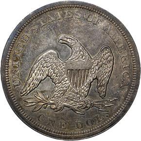 1850 S$1 MS reverse