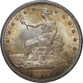 1877 S T$1 MS obverse