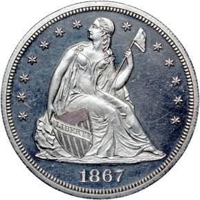 1867 $1 PF obverse