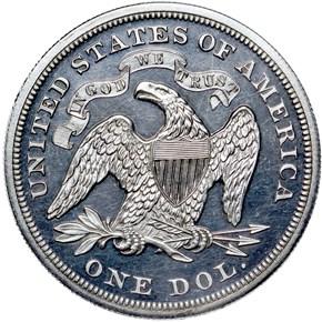 1867 S$1 PF reverse