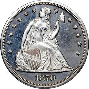 1870 $1 PF obverse