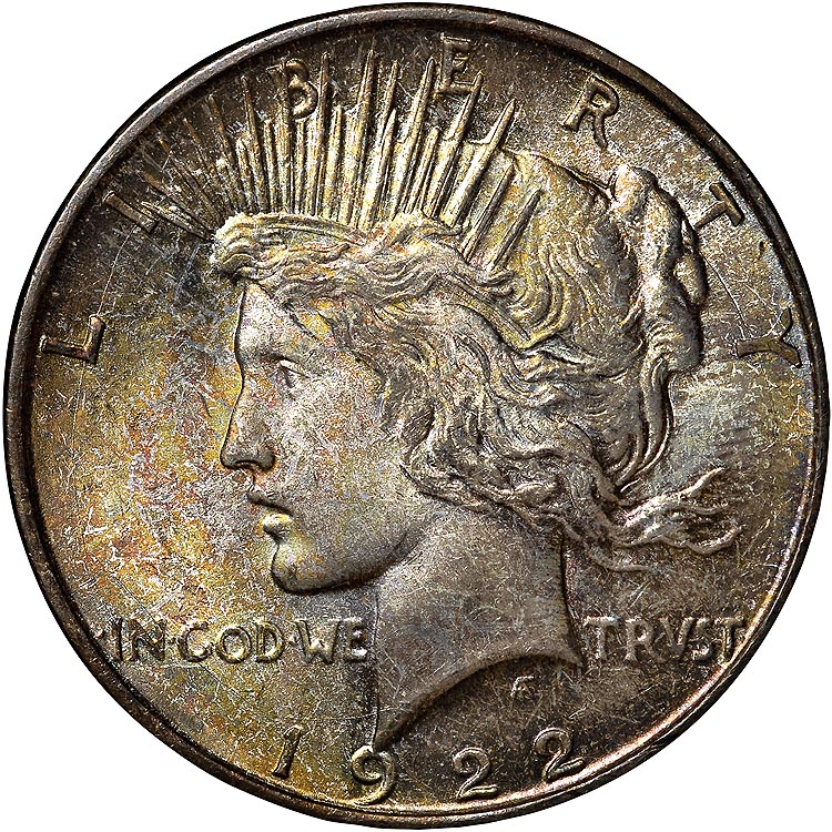 1922 D S 1 Ms Peace Dollars Ngc