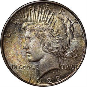 1922 D S$1 MS obverse