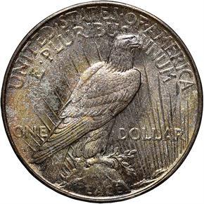 1922 D S$1 MS reverse