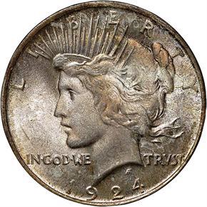 1924 S$1 MS obverse