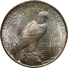 1924 S$1 MS reverse