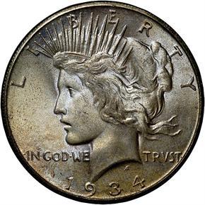 1934 S S$1 MS obverse