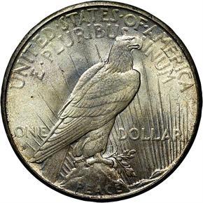 1934 S S$1 MS reverse
