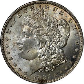 1887 O $1 MS obverse