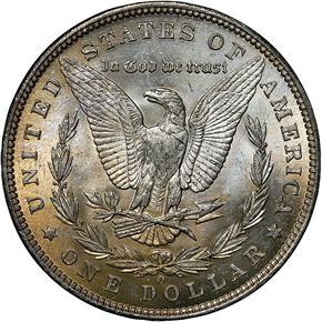 1887 O $1 MS reverse