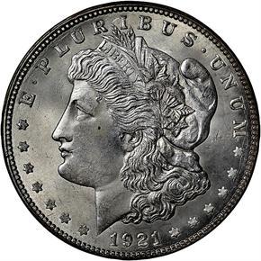 1921 D S$1 MS obverse