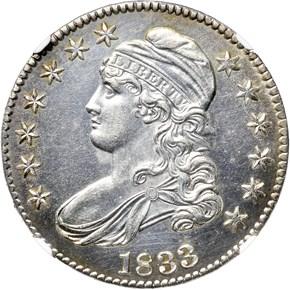 1833 50C PF obverse