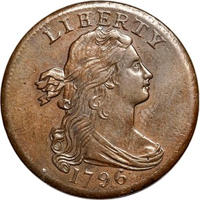 "1796 DRAPED ""LIHERTY"" 1C MS obverse"