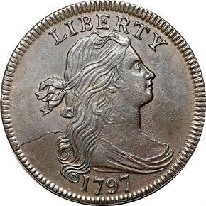 1797 PLAIN EDGE 1C MS obverse