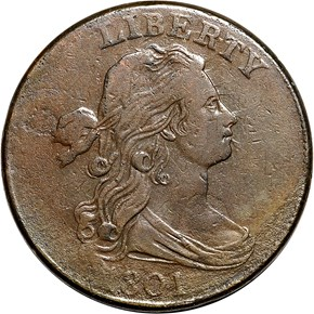 1801 3 ERRORS 1C MS obverse