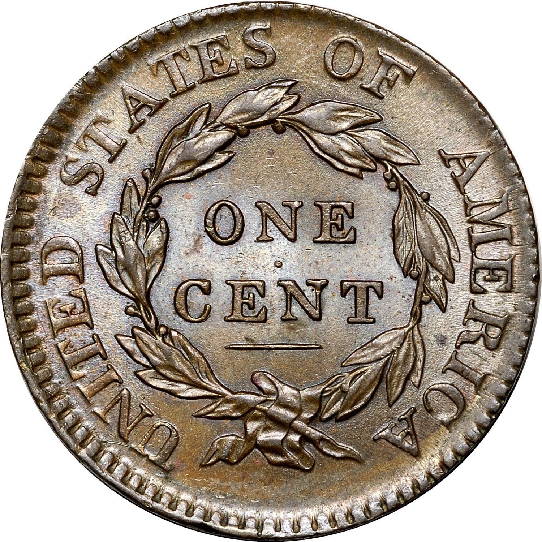 1817 1C MS obverse · 1817 1C MS reverse