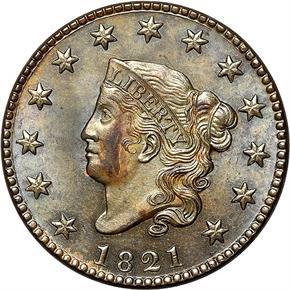 1821 1C MS obverse