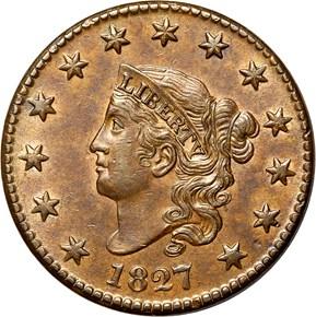 1827 1C MS obverse