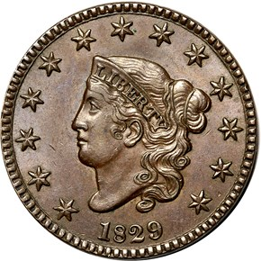 1829 1C MS obverse