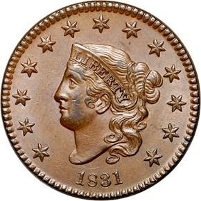 1831 1C MS obverse