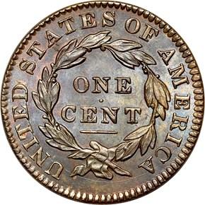 1833 1C MS reverse