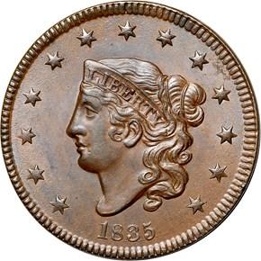 1835 1C MS obverse