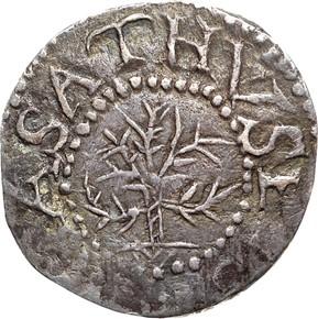 1652 NO 'IN' OAK TREE MASSACHUSETTS 3P MS obverse