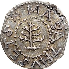1652 NO PELS PINE TREE MASSACHUSETTS 3P MS obverse