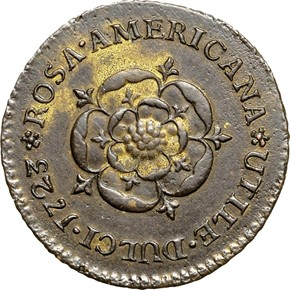1723 NO CROWN ROSA AMERICANA 1/2P MS reverse