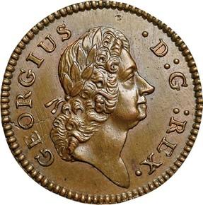 1722 HIBERNIA 1/4P MS obverse