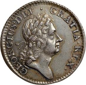 1723 SILVER HIBERNIA 1/2P MS obverse