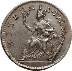 1723 SILVER HIBERNIA 1/2P MS reverse