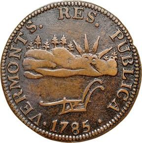 1785 'VERMONTS' VERMONT MS obverse