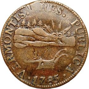 1785 VERMONTIS VERMONT MS obverse
